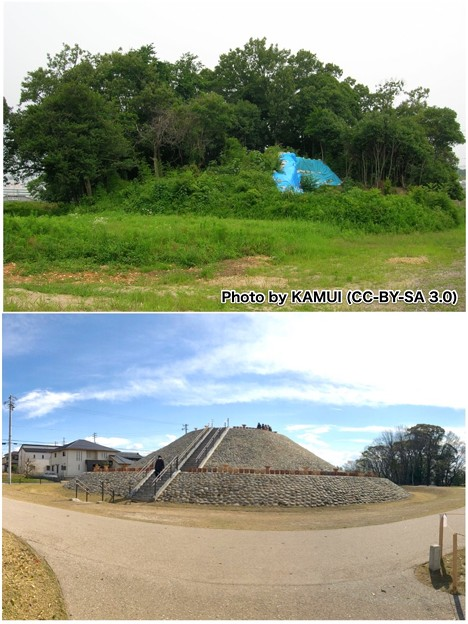 2008年と2019年の志段味大塚古墳 - 1