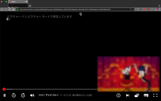 Vivaldi 2.5.1511.4:UserScript「Easy Picture-in-Picture」でビデオポップアップ - 3(Netflix)