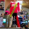 Photos: オートレースを宣伝する、やけに怒り肩なナナちゃん人形 - 1