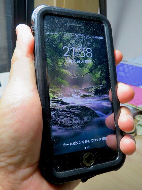 KYOKAのiPhone 7&8用の格安防水・耐衝撃ケース No - 39:正面