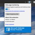 Photos: Microsoft Edge for Mac(Canaryビルド 76.0.161.0)- 9:セキュリティ目的で見てるページをモニタリング?