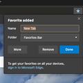 Photos: Microsoft Edge for Mac(Canaryビルド 76.0.161.0)- 10:ブックマーク追加