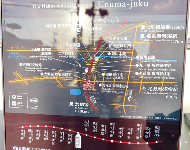 鵜沼宿 No - 61:鵜沼宿の案内図