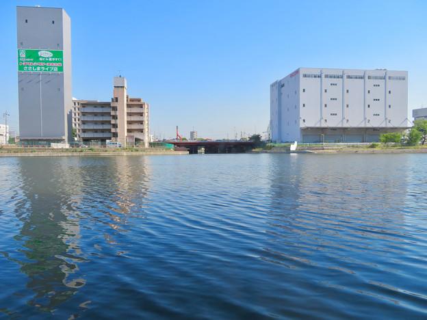 クルーズ名古屋(2019年5月)No - 7:船内から見た運河橋