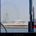 Photos: クルーズ名古屋(2019年5月)No - 130:中川口通船門から見たシートレイランドの観覧車と名古屋港水族館