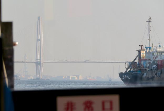 クルーズ名古屋(2019年5月)No - 146:船内から見た名港中央大橋