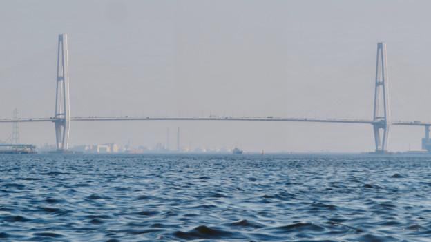 クルーズ名古屋(2019年5月)No - 154:船内から見た名港中央大橋