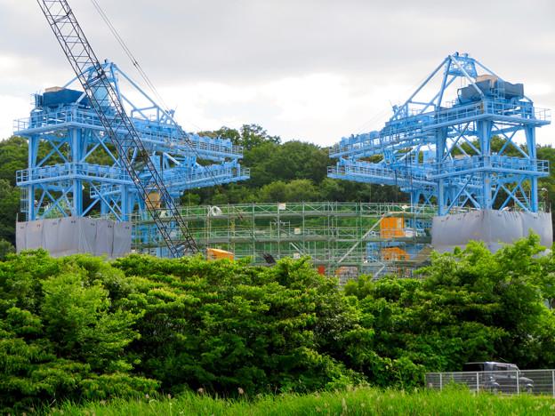 建設中のリニア非常口工事現場(2019年6月8日) - 3