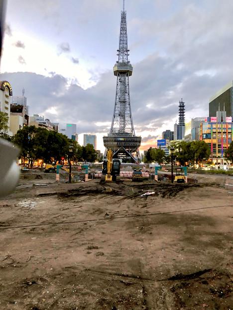 リニューアル工事中の久屋大通公園(2019年6月16日) - 1