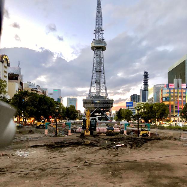 リニューアル工事中の久屋大通公園(2019年6月16日) - 2