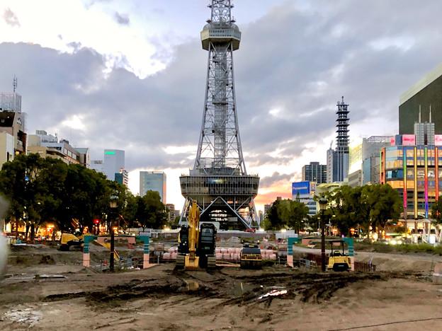 リニューアル工事中の久屋大通公園(2019年6月16日) - 3