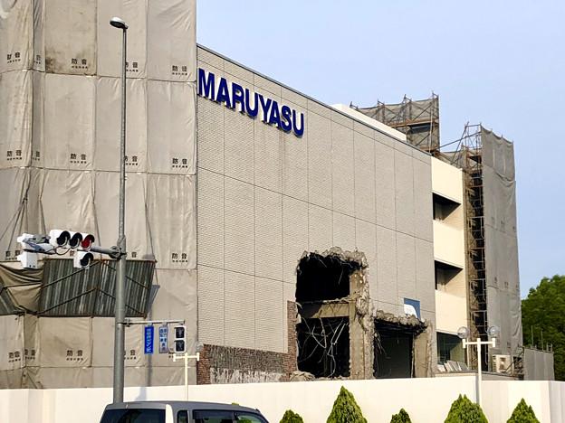 解体工事が始まっていた旧マルヤス家具春日井インター店の建物(2019年6月18日) - 3