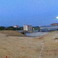 桃花台線の桃花台中央公園南側撤去工事(2019年6月20日):かなりの土砂で整地 - 3(パノラマ)