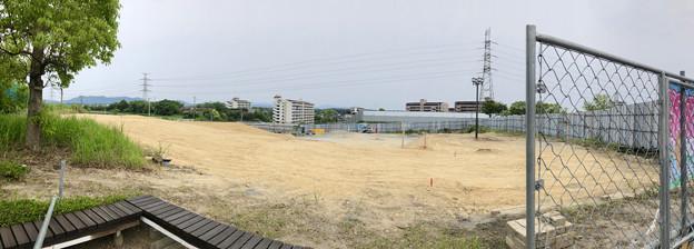 桃花台線の桃花台中央公園南側撤去工事(2019年6月23日) - 12:パノラマ