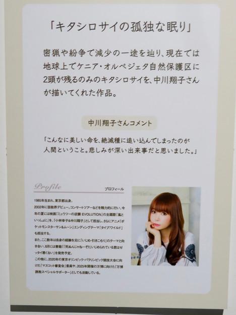 名古屋市科学館「絶滅動物研究所」展 No - 102:中川翔子さんのコメントと展示物説明