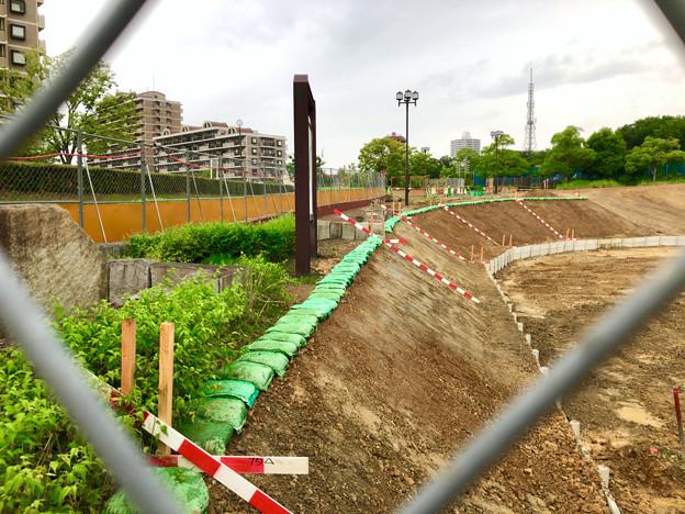 桃花台線の桃花台中央公園南側撤去工事(2019年7月13日) - 7