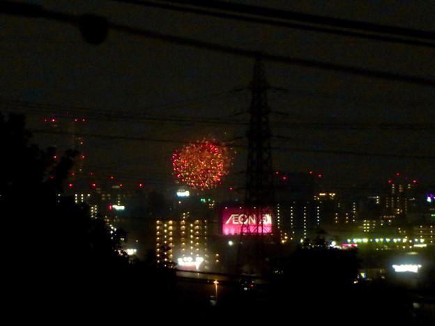 桃花台から見えた「名古屋みなと祭 2019」の花火 - 2