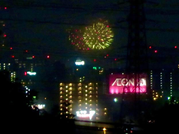 桃花台から見えた「名古屋みなと祭 2019」の花火 - 3