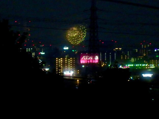 桃花台から見えた「名古屋みなと祭 2019」の花火 - 4