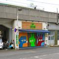 Photos: JR中央線高架下のバイク屋シャッターの面白いジャンケン塗装 - 1