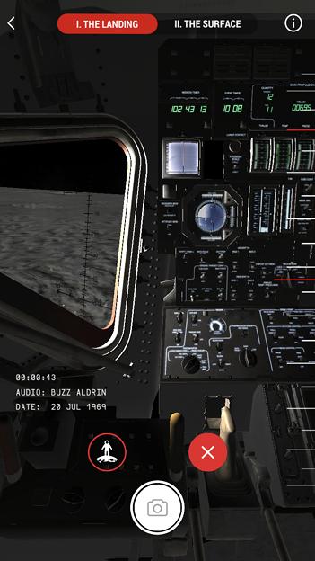 月面着陸をAR&VRで体験できるアプリ「TIME Immersive」- 2