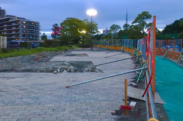 桃花台線の桃花台中央公園南側撤去工事(2019年7月26日):より良くしようとしない愛知県が不便な歩道を復元 - 9