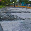 Photos: 桃花台線の桃花台中央公園南側撤去工事(2019年7月26日):より良くしようとしない愛知県が不便な歩道を復元 - 14