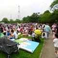 大勢の人で賑わう春日井市民納涼まつり(2019)の日の落合公園 - 39