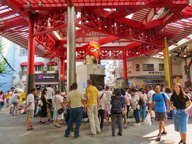 Photos: 大須商店街:映画「ライオンキング」PRのためライオンになってた招き猫広場の招き猫 - 4