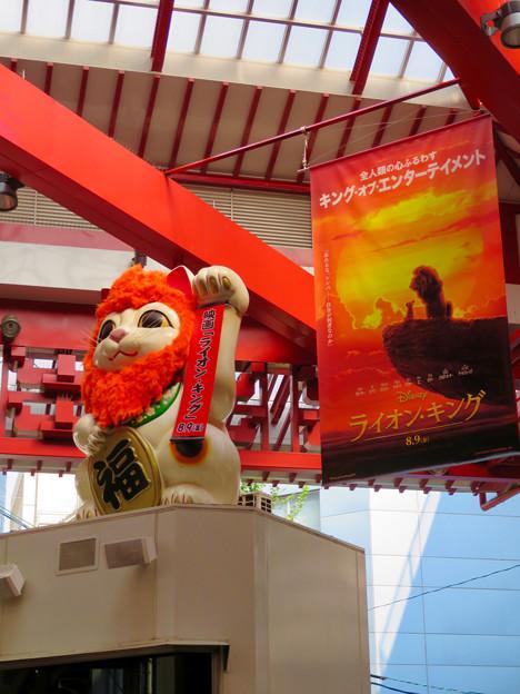 大須商店街:映画「ライオンキング」PRのためライオンになってた招き猫広場の招き猫 - 7