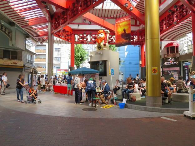 大須タピオカサミット 2019 No - 1:招き猫広場の投票所とゴミ捨て場