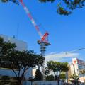 Photos: 名古屋栄の建設現場に設置されてる巨大クレーン - 1