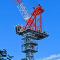 Photos: 名古屋栄の建設現場に設置されてる巨大クレーン - 2
