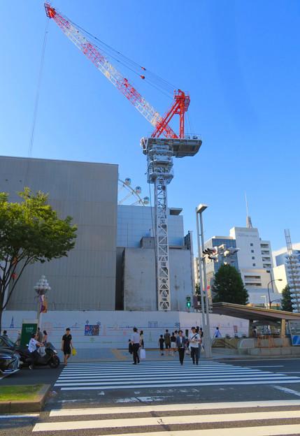名古屋栄の建設現場に設置されてる巨大クレーン - 5