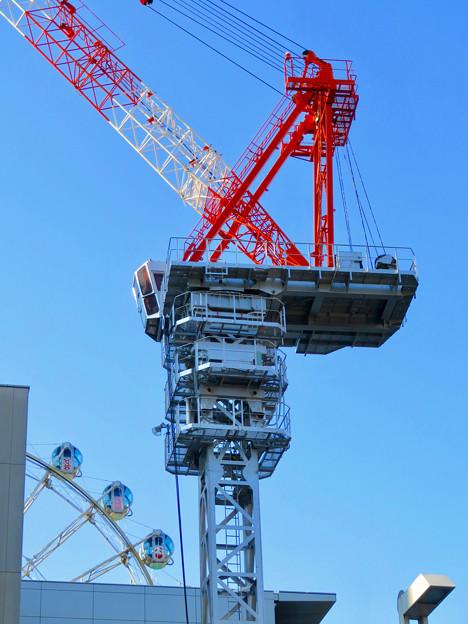 名古屋栄の建設現場に設置されてる巨大クレーン - 6