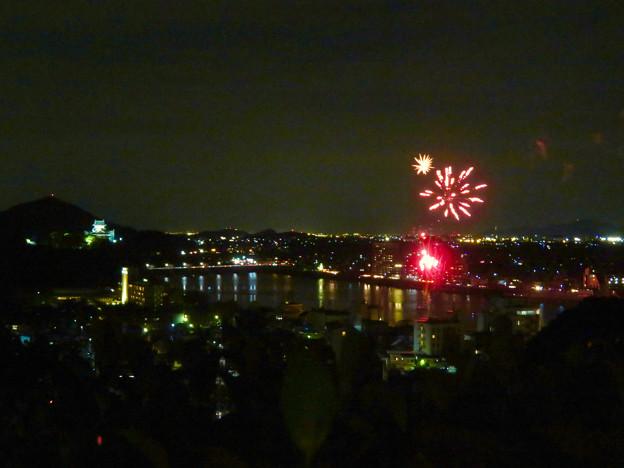 犬山成田山から見た日本ライン夏まつり納涼花火大会 2019の花火 - 24
