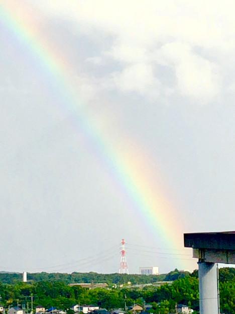 2重の虹が架かった、雨上がりの日(2019年8月14日) - 3