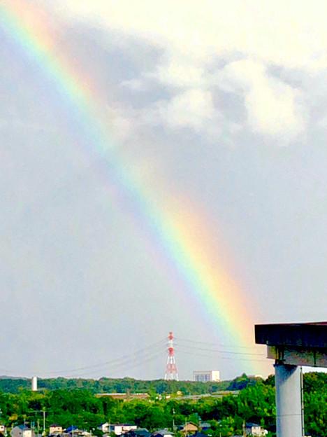 2重の虹が架かった、雨上がりの日(2019年8月14日) - 4