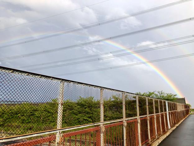2重の虹が架かった、雨上がりの日(2019年8月14日) - 9