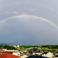 2重の虹が架かった、雨上がりの日(2019年8月14日) - 13:パノラマ