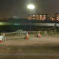 桃花台線の桃花台中央公園南側撤去工事(2019年8月18日):フェンスが一部撤去 - 2