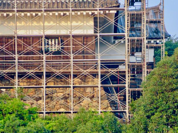 天守保蔵工事中の犬山城(2019年8月18日) - 36