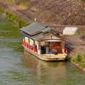 Photos: 犬山城近くの旅館前に停泊していた屋形船 - 1
