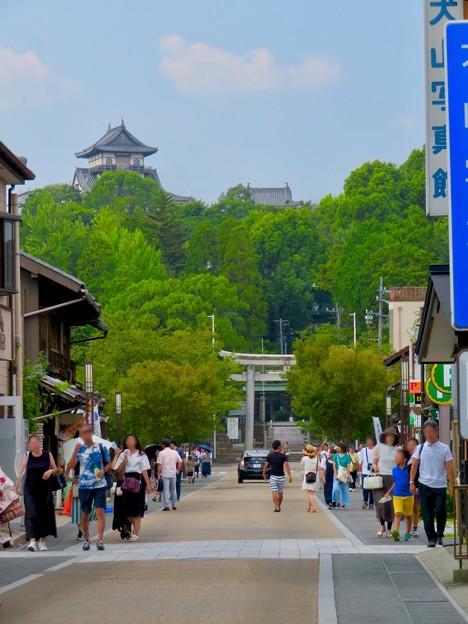 真夏のとても暑い日、人通りがいつもより少なかった犬山城下町商店街 - 3