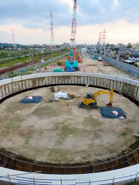 神領車両区近くに建設されてる丸い建造物(2019年9月2日) - 5