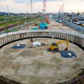 Photos: 神領車両区近くに建設されてる丸い建造物(2019年9月2日) - 5