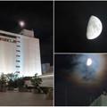 Photos: 名鉄百貨店の上で輝いていた半月 - 4