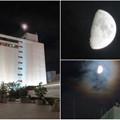 Photos: 名鉄百貨店の上で輝いていた半月 - 5