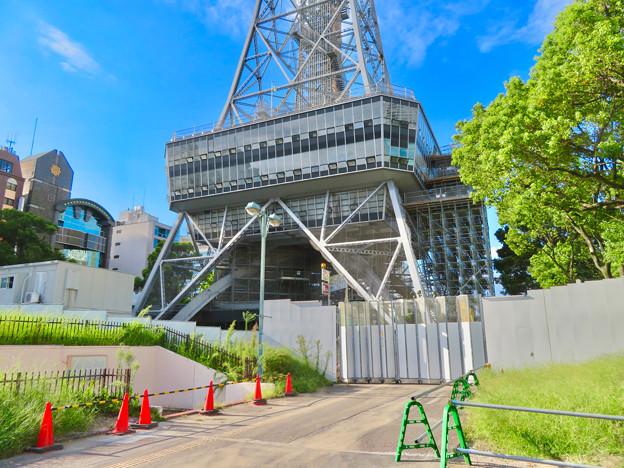 リニューアル工事中の名古屋テレビ塔(2019年9月7日) - 4