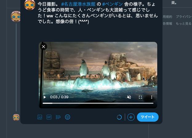 Twitter公式WEB:動画アップロード時のトリミング機能は削除?